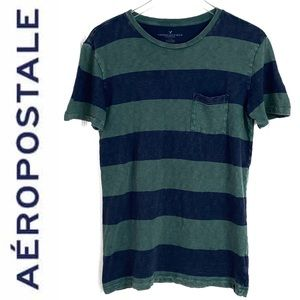 🌴Aeropostale Striped Short Sleeve Shirt XS